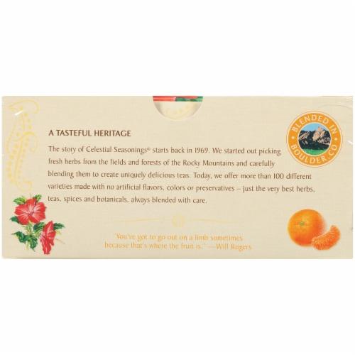 Celestial Tangerine Orange Zinger Herbal Tea Bags 20 Count Perspective: bottom
