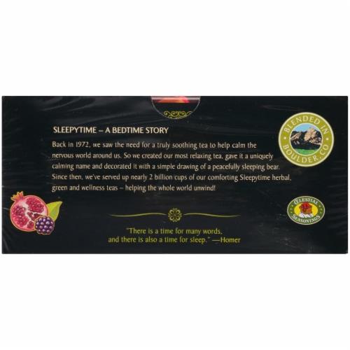 Celestial Seasonings Blackberry Pomegranate Sleepytime Decaf Green Tea Bags Perspective: bottom