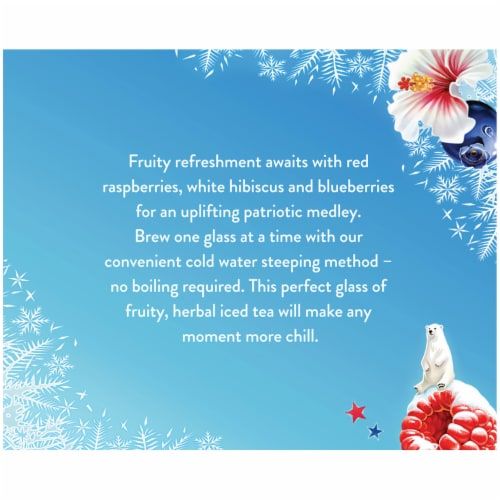 Celestial Seasonings® Red White and Blueberry Cold Brew Iced Tea Perspective: bottom