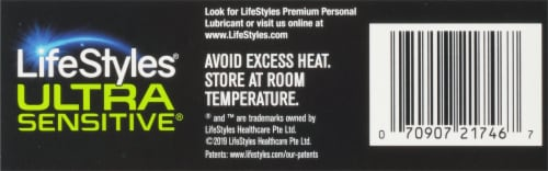 LifeStyles Ultra Sensitive Lubricated Condoms Perspective: bottom