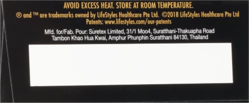 Lifestyles Skyn® Elite Non-Latex Lubricated Condoms Perspective: bottom