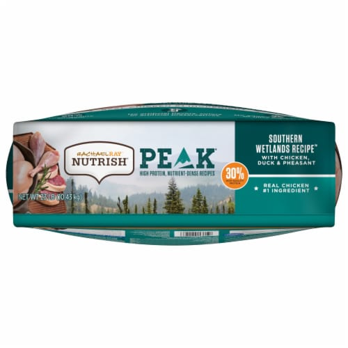 Rachael Ray Nutrish Peak WEtland Chicken and Duck Dry Dog Food Perspective: bottom