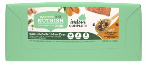 Rachael Ray Nutrish Indoor Complete Chicken With Lentils & Salmon Dry Cat Food Perspective: bottom