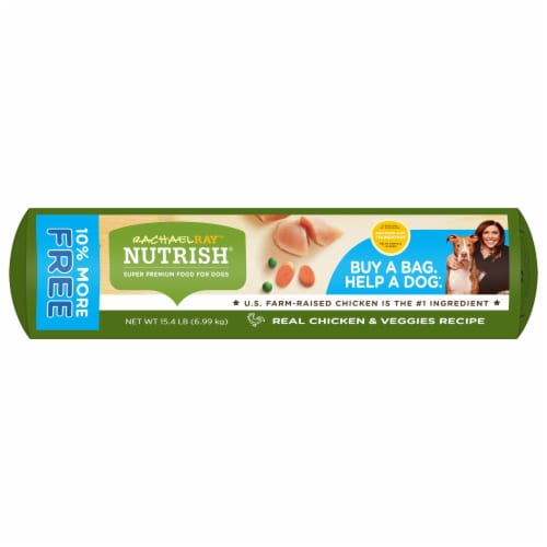 Rachael Ray Nutrish Real Chicken & Veggies Recipe Dry Dog Food Perspective: bottom