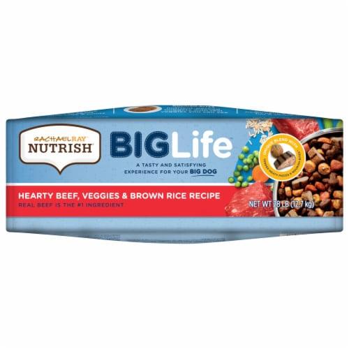 Rachael Ray Nutrish Big Life Hearty Beef Veggie & Brown Rice Dry Adult Dog Food Perspective: bottom