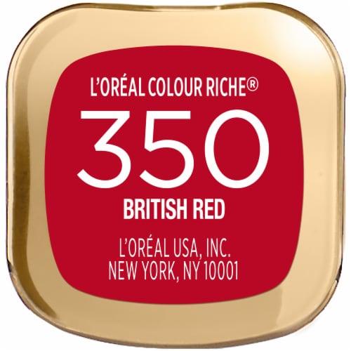 L'Oreal Paris Colour Riche 350 British Red Lipstick Perspective: bottom
