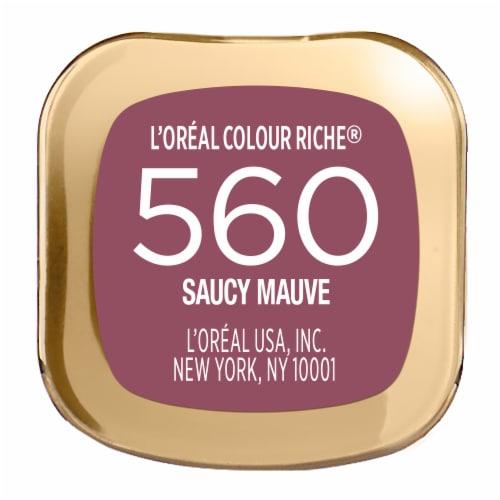 L'Oreal Paris Colour Riche 560 Saucy Mauve Satin Lipstick Perspective: bottom