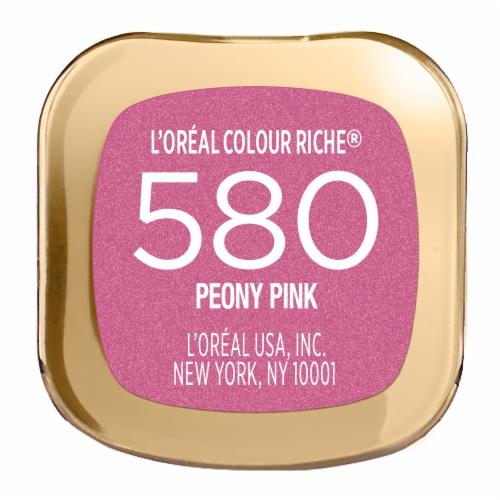 L'Oreal Paris Colour Riche 580 Peony Pink Lipstick Perspective: bottom