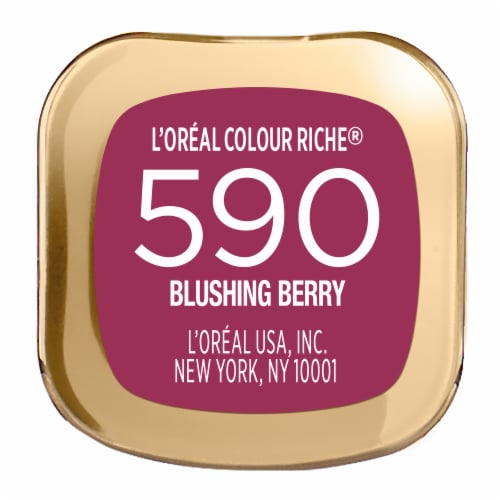 L'Oreal Paris Colour Riche 590 Blushing Berry Lipstick Perspective: bottom