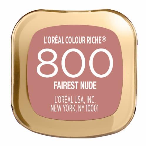 L'Oreal Paris Colour Riche 800 Fairest Nude Lipstick Perspective: bottom