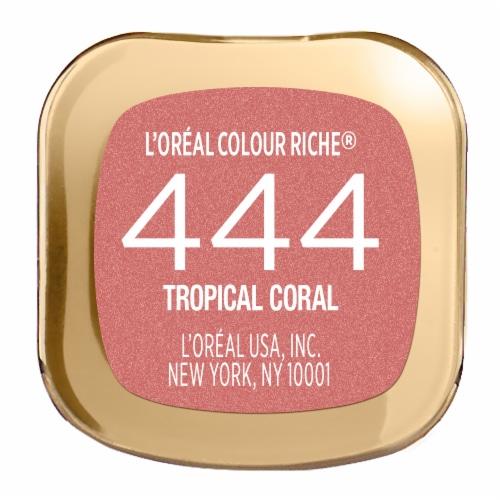L'Oreal Paris Colour Riche 444 Tropical Coral Lipstick Perspective: bottom