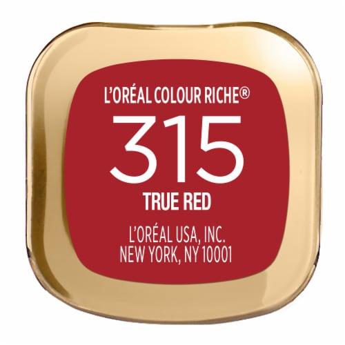 L'Oreal Paris Colour Riche 315 True Red Satin Lipstick Perspective: bottom