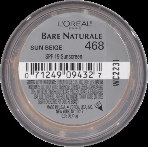 L'Oreal Paris True Match Sun Beige Gentle Mineral Makeup Perspective: bottom