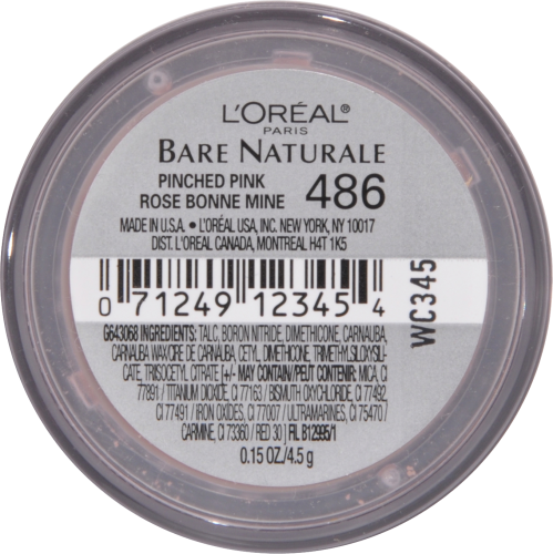 L'Oreal Paris Bare Naturale Blush - Pinched Pink Perspective: bottom