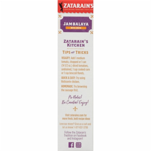 Zatarain's One Pot Jambalaya with Cheese Rice Mix Perspective: bottom