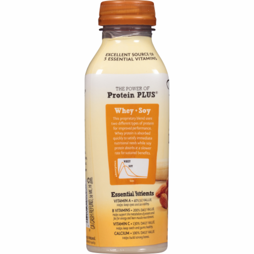 Bolthouse Farms Protein Plus Banana Honey Almond Butter Protein Shake Perspective: bottom