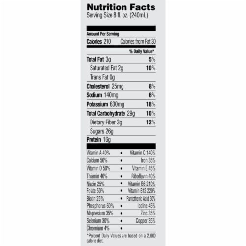 Bolthouse Farms Protein Plus Chocolate Shake Perspective: bottom