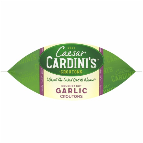 Cardini's Gourmet Cut Garlic Croutons Perspective: bottom