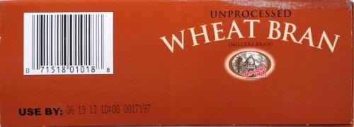 Hodgson Mill Unprocessed Wheat Bran Perspective: bottom