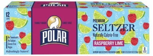 Polar Seltzer Raspberry Lime Sparkling Water Perspective: bottom