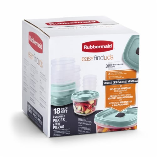 Rubbermaid Easy Find Lids Food Storage Container Set Perspective: bottom