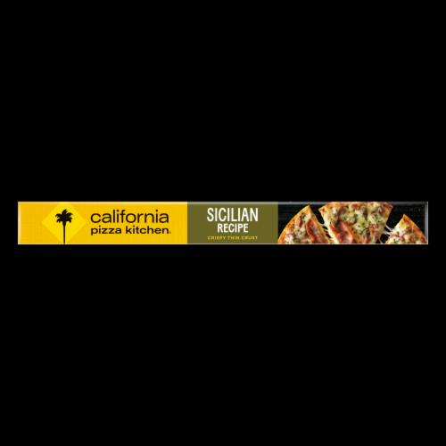 California Pizza Kitchen Sicilian Recipe Crispy Thin Crust Frozen Pizza Perspective: bottom