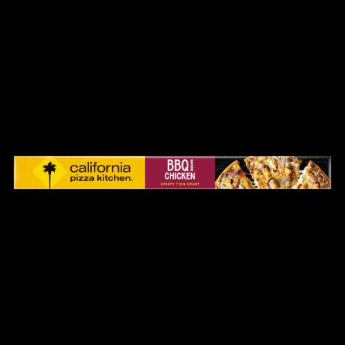 California Pizza Kitchen BBQ Chicken Recipe Crispy Thin Crust Pizza Perspective: bottom
