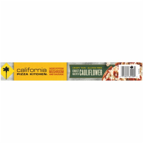California Pizza Kitchen® Uncured Pepperoni Mushroom & Sausage Pizza with Cauliflower Pizza Crust Perspective: bottom
