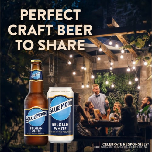Blue Moon Belgian White Wheat Ale Beer Perspective: bottom