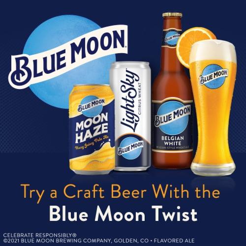 Blue Moon® Moon Haze Hazy Juicy Pale Ale Beer Perspective: bottom