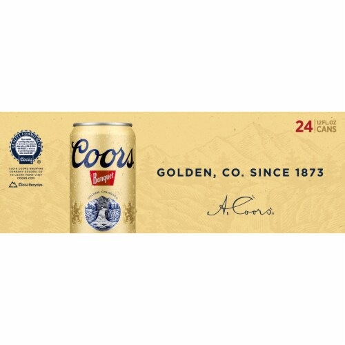Coors Banquet Lager Beer 24 Cans Perspective: bottom