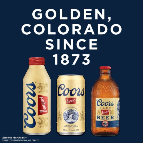 Coors Banquet Lager Beer Perspective: bottom