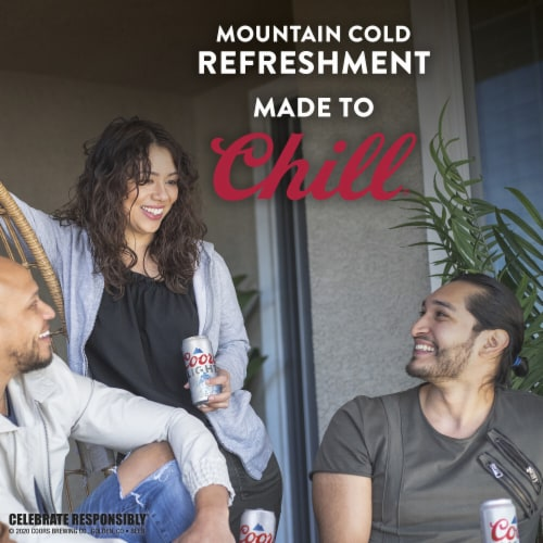 Coors Light American Light Lager Beer 4 Count Perspective: bottom