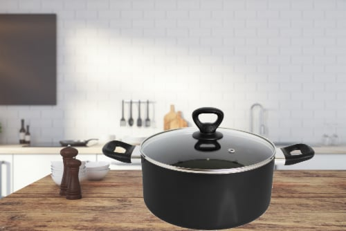 Mirro Get A Grip Nonstick Covered Sauce Pot - Black Perspective: bottom