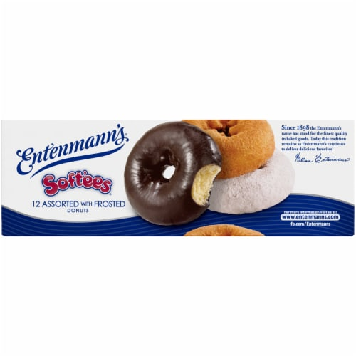 Entenmann's Soft'ees Assorted Frosted Donuts Perspective: bottom