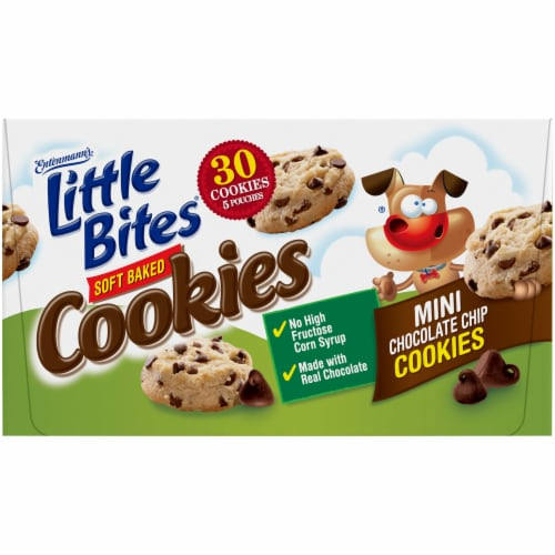 Entenmann's® Little Bites® Soft Baked Mini Chocolate Chip Cookies Perspective: bottom