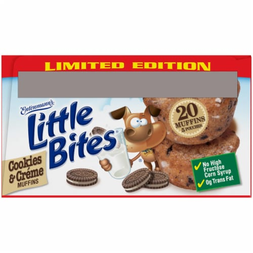 Entenmann's® Little Bites® Limited Edition Cookies & Creme Mini Muffins Perspective: bottom