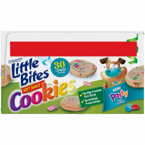 Entenmann's® Little Bites® Soft Baked Mini Party Cake Cookies Perspective: bottom