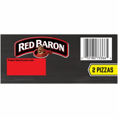 Red Baron Deep Dish Singles Pepperoni Pizzas Perspective: bottom