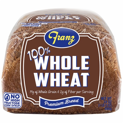 Franz® 100% Whole Wheat Bread Perspective: bottom