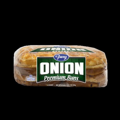 Franz® Onion Premium Hamburger Buns Perspective: bottom