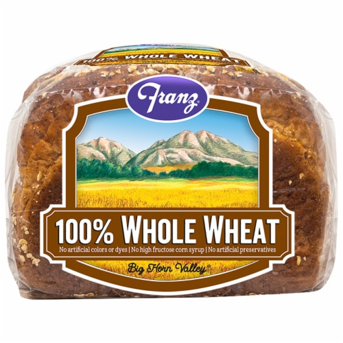 Franz Big Horn Valley 100% Whole Wheat Bread Perspective: bottom