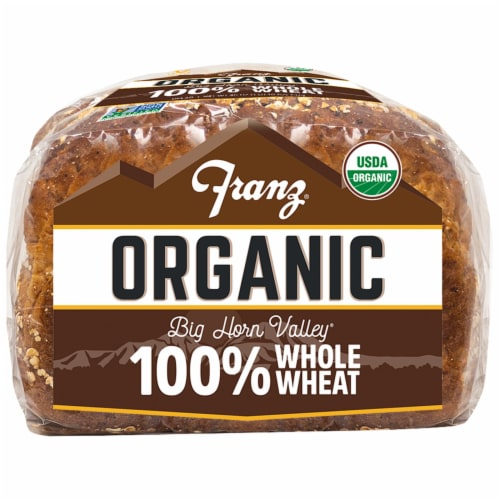 Franz® Organic Big Horn Valley 100% Whole Wheat Bread Perspective: bottom