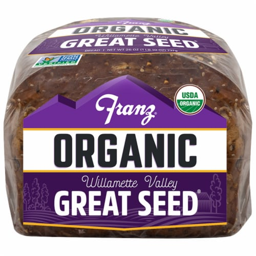 Franz® Organic Willamette Valley Great Seed Bread Perspective: bottom