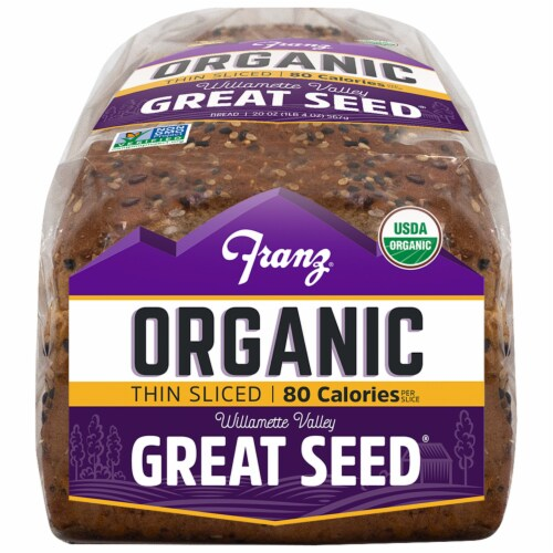 Franz® Organic Williamette Valley Thin Sliced Great Seed Bread Perspective: bottom