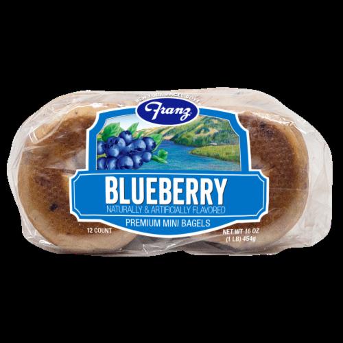Franz® New York Bagel Boys® Blueberry Premium Mini Bagels Perspective: bottom