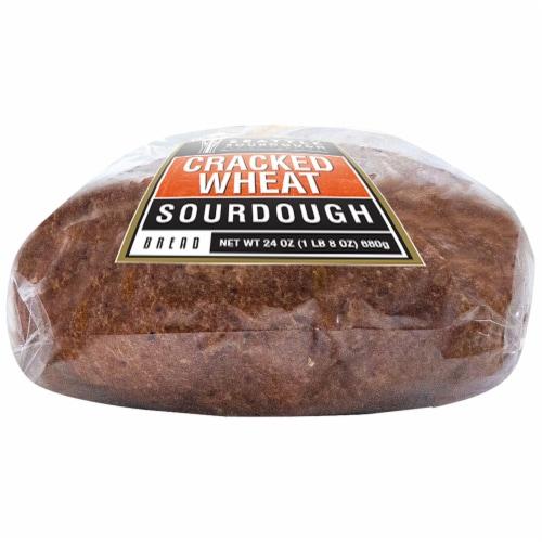 Seattle International Cracked Wheat Sourdough Bread Perspective: bottom