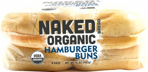 Naked Bread® Organic Hamburger Buns Perspective: bottom