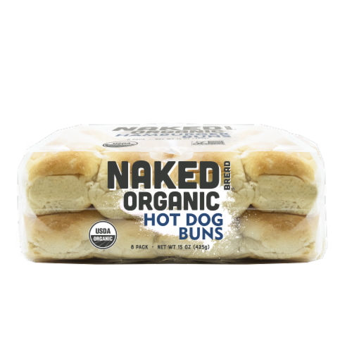 Naked Bread® Organic Hot Dog Buns Perspective: bottom