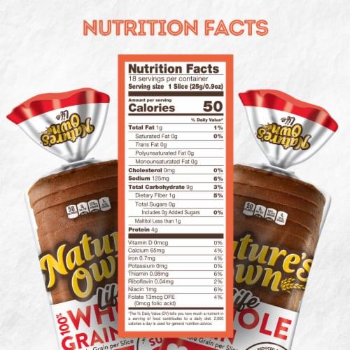 Nature's Own® Sugar Free 100% Whole Grain Bread Perspective: bottom